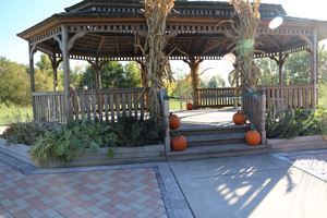 Lakeland Park gazebo in fall